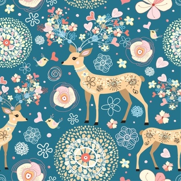 elegant pattern illustration background 03 vector