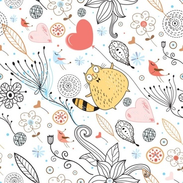 elegant pattern illustration background 05 vector