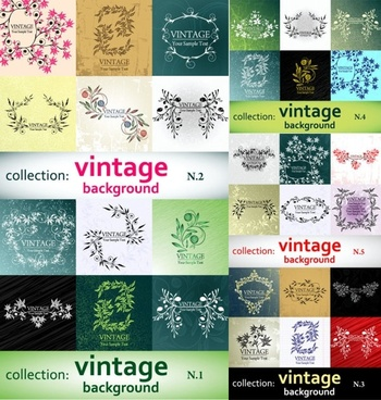 elegant patterns vector