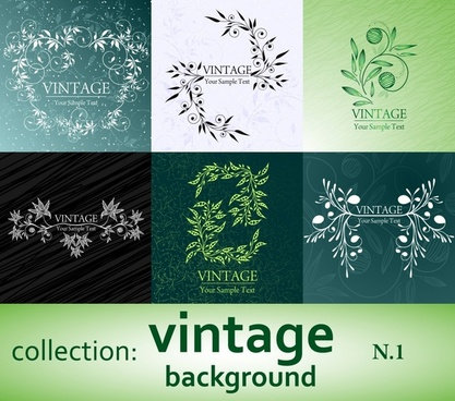 decorative background templates vintage flowers decor