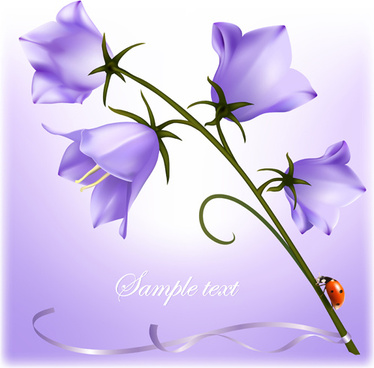 elegant purple flower background art vector