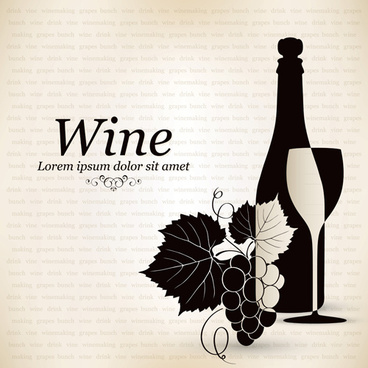 elegant restaurant wine menu vector graphics