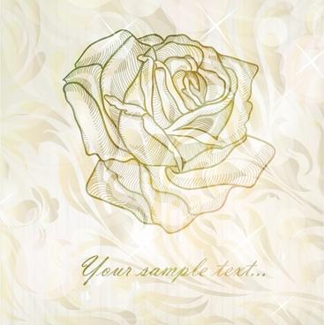 elegant rose pattern background vector