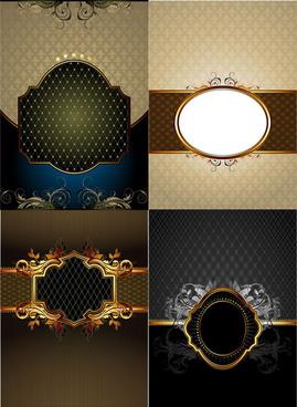 elegant shaped frame vector