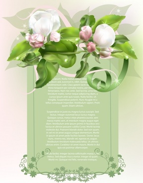 elegant spring flowers background vector