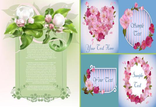 elegant spring flowers vector