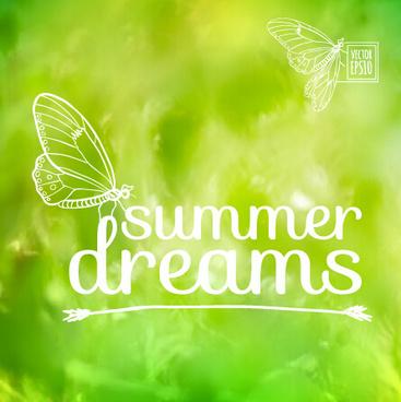 elegant summer dreams vector background art