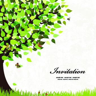 elegant tree background vector