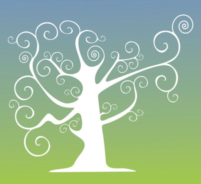 elegant tree branch silhouette vector