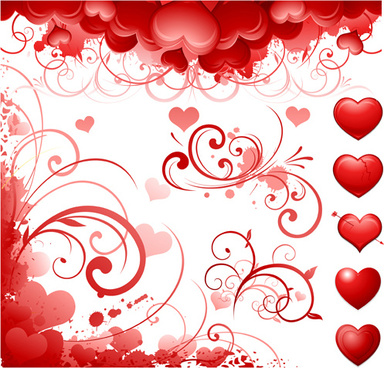 elegant valentine background graphic