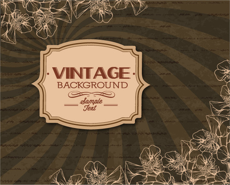 elegant vintage background set