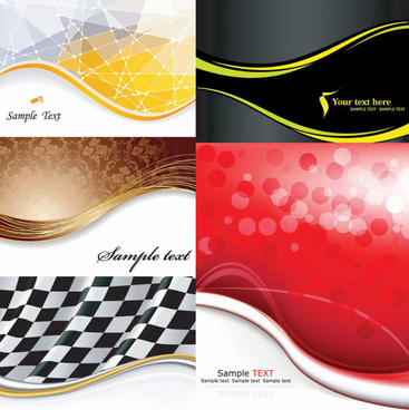 elegant wave background art vector