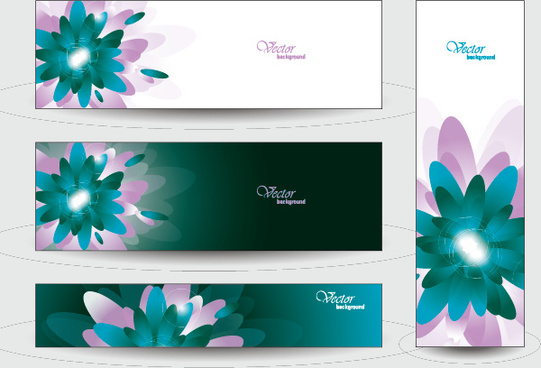 elegant web banner design vector