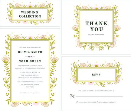 elegant wedding invitations creative vector