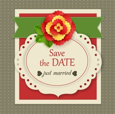 elegant wedding invitations design vector