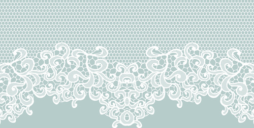 elegant white lace vector background