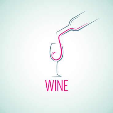 elegant wine logo design graphic vector