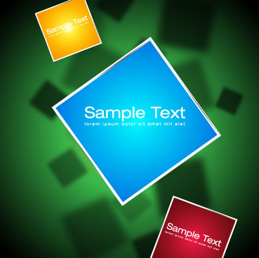 elements of 3d objects vector background set