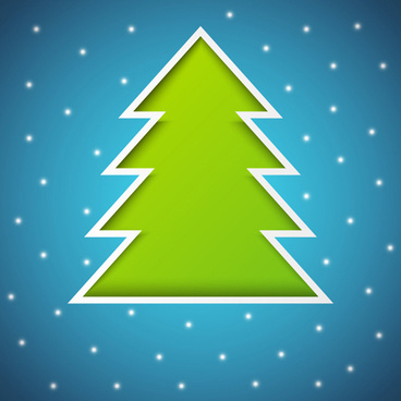 elements of abstract christmas tree vector