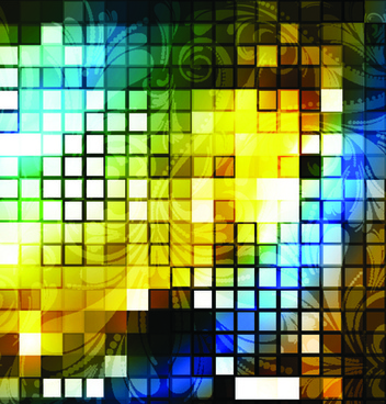 elements of abstract mosaics background vector
