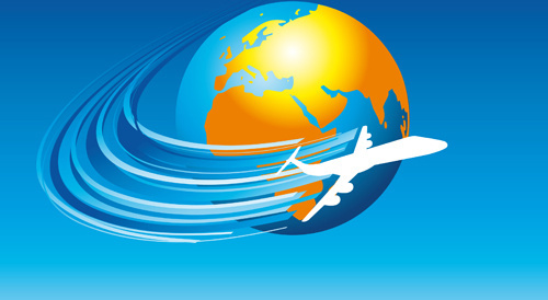 elements of airlines background design vector