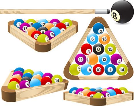 elements of billiards vector