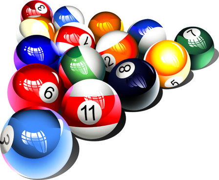 Billiards free vector download 59 free vector for for Pool design graphic