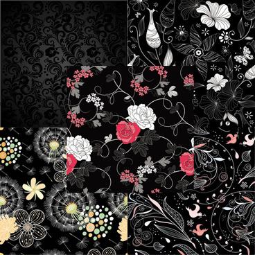 elements of black background vector