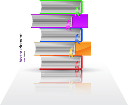 elements of books design vector