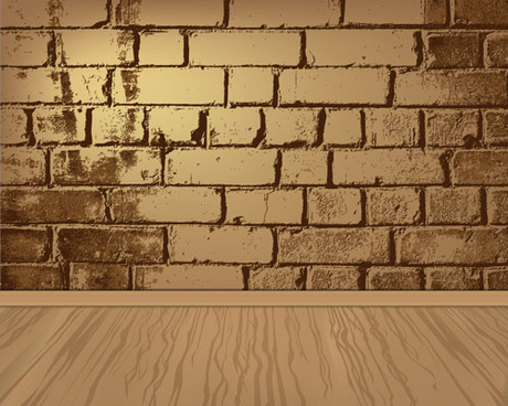 elements of brick wall background vector