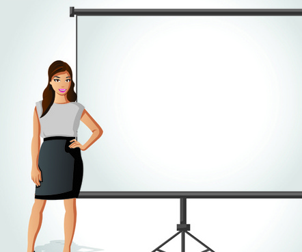 elements of business talk and presentation vector set