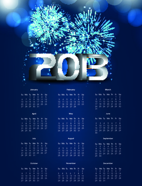 elements of calendar13 design vector art