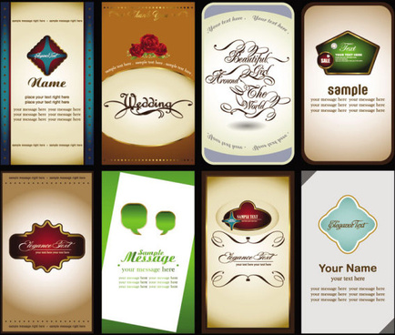 elements of cards vector