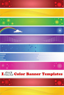 elements of color banner templates vector