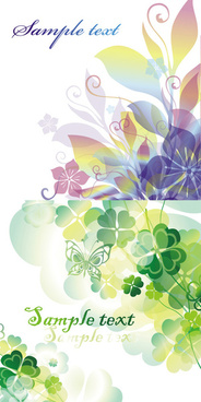 elements of color flowers background vector