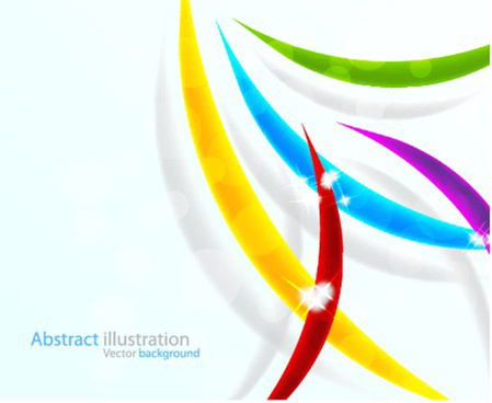 elements of colorful abstract objects vector background set