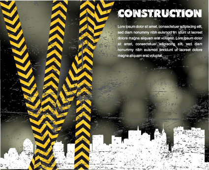 elements of construction template design vector
