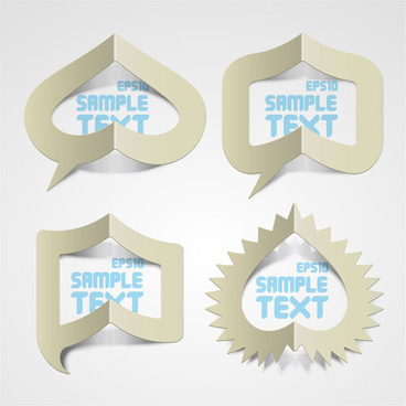 elements of creative stickers labels vector