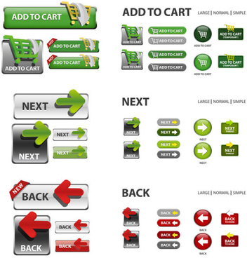 elements of creative web button design vector