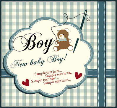 elements of cute new baby cards design vector