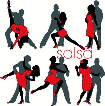 elements of dancing vector graphics