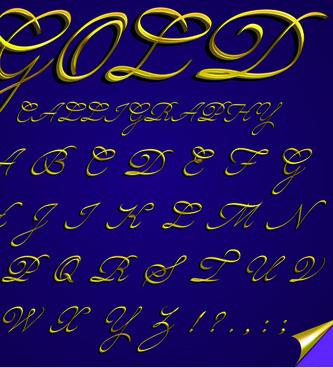 elements of different alphabet vector set