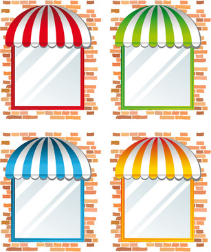 elements of different cafe deisgn vector