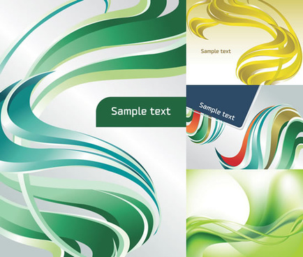 elements of dynamic color stripe background vector graphic