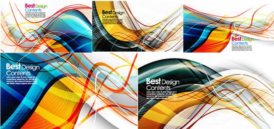 elements of dynamic stripe background design vector