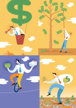 elements of financial implication of illustration vector