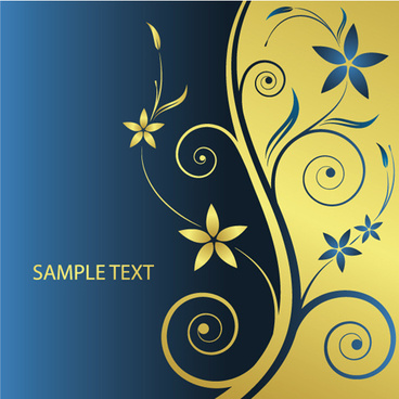 elements of floral backgrounds vector illustration