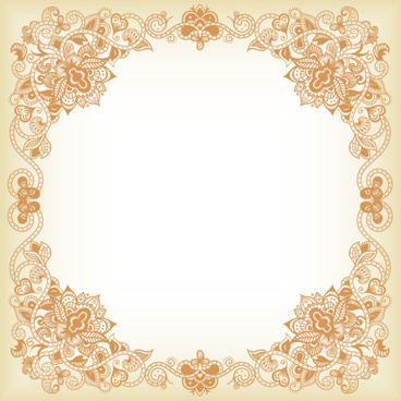 elements of floral borders vector