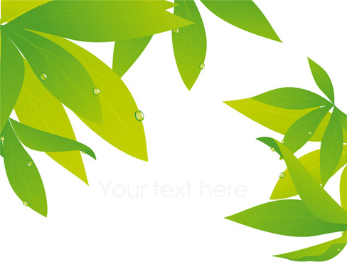 elements of fresh green vector backgrounds