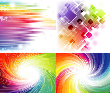 elements of gorgeous rainbow background vector